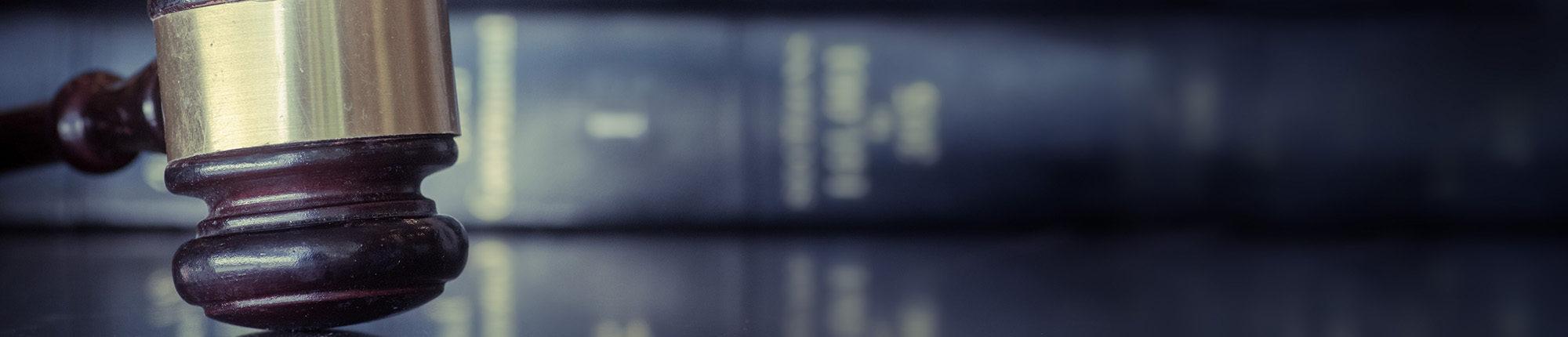 legal books in a row