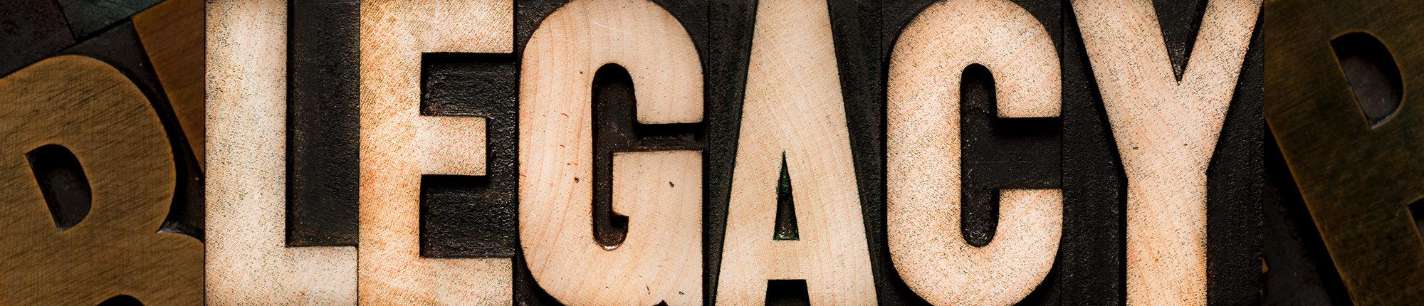 legacy word in wood
