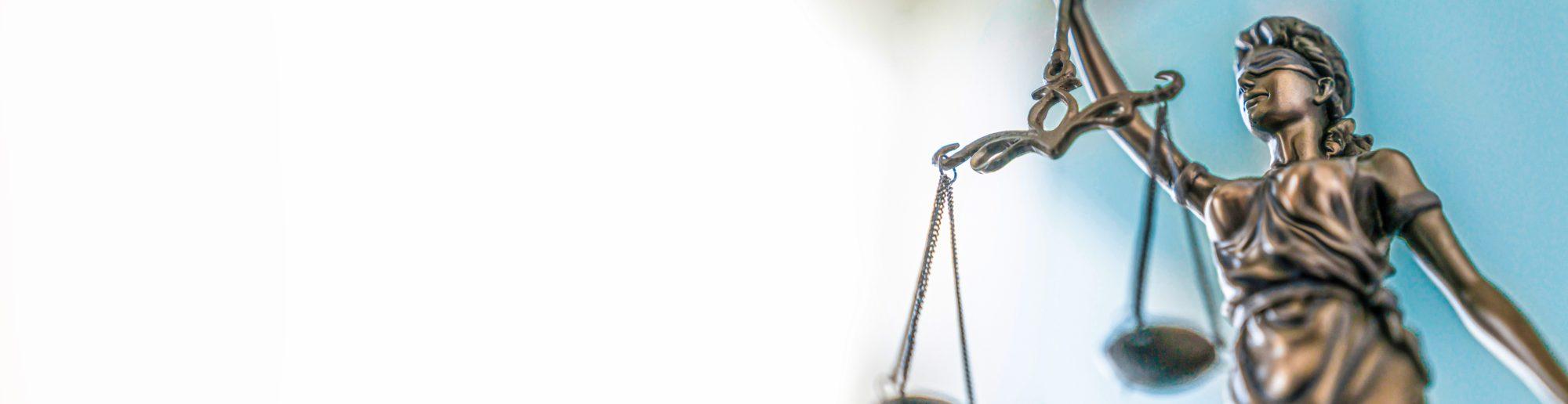 Balance of Justice bronze statue
